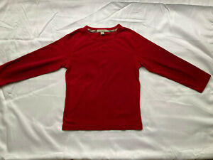 Burberry Boys Red Long Sleeve T-Shirt Size 5