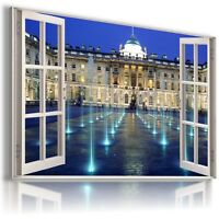 ENGLAND LONDON PALACE 3D Window View Canvas Wall Art Picture Large W434 MATAGA .