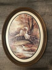 Vintage Syroco Homeco 17x13� Oval Picture Couple Under Tree