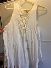 River island Lace Up Sleeveless Top Size 14