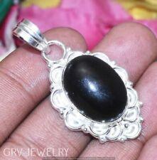 Black Onyx Gemstone Pendant 925 Sterling Silver Overlay U189-B143