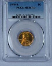 1940-S Lincoln Cent. PCGS MS66RD ET320/CRN