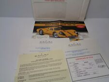 Danbury Mint- Exoto 1967 Ford Gt40 Mk Iv 1:18 Coupe Complete Paperwok Set No Car