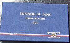France 1974  FDC   Monnaie De Paris Fleurs De Coin COA & Box