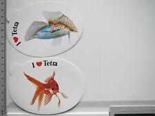 2 x Aufkleber Sticker Tetra - Aquaristik - Fischfutter (6455)