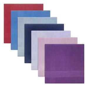 Mens 100% Cotton Stripe Border Assorted Colours Handkerchiefs by Warwick & Vance