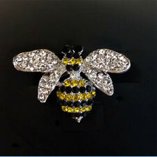 Brooch Little Bumble Bee Crystal Rhinestone Cute Bee Diamante Pin Brooch/Broach