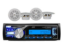 New JVC Marine Boat KDX31MDS iPhone AUX Input USB Bluetooth Radio w/4 Speakers