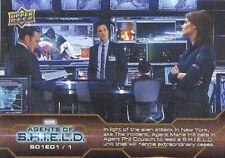 2019 Upper Deck Agents Of S.H.I.E.L.D. Compendium Season 1 - 50 Trading Card Set