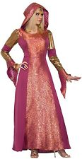 Ladies Long Hooded Medieval Arabian Queen Halloween Fancy Dress Costume Outfit