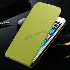 Luxury Magnetic Genuine Leather Vertical Flip Case Cover For Apple iPhone Models