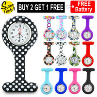 Fashion Colourful Silicone Nurse Watch Nurses Pendant Clip Pocket Quartz Watches