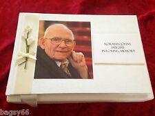 Funeral Memorial Book Condolence Guest Book Bereavement Personalised Photo
