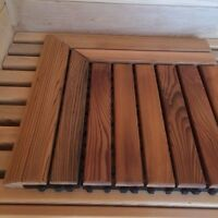 Corner pieces for Cedar Flooring Tile. Use for saunas, bathrooms, etc. 2 Pieces