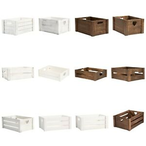 Wickerfield Home Storage Gift DIY Xmas Wedding Birthday Gift Wooden Crates