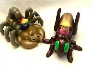 Vtg 1998 Set of 2 BUG RIDERS ~ KID VID SCORPION & SNOPI GRASSHOPPER ~ Mint Cond.