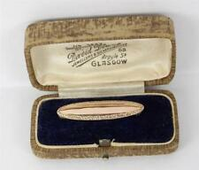 9 Carat No Stone Brooch/Pin Edwardian Fine Jewellery
