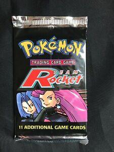 Pokemon Cards: Sealed Team Rocket Booster Pack: Jessie and James Artwork