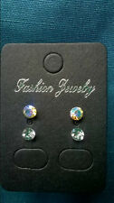 0027 - Two pairs of Sparkling Diamante Earrings