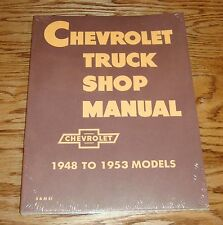 1948-1953 Chevrolet Truck Shop Service Manual Pickup Chevy 48 49 50 51 52 53
