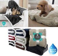 Waterproof Warm Soft Fleece Pet Blanket Small Cat Dog Kennel Bed Mat Pad Cushion
