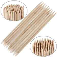 100x Nail Art Care Tools Orange Wood Stick Cuticle Pusher Remover For Manicure E