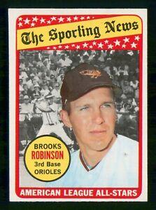 BROOKS ROBINSON ALL-STAR 1969 TOPPS NO 421 EX+ 28858