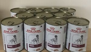 11 tins / cans - Royal Canin DOG Renal - LATTINA 0.41 KG 410g. Loaf. Veterinary
