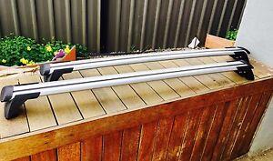 2x Aerodynamic Cross bar / Roof rack for Chery J11   2010 - 2021 attach on rails