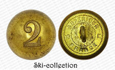 RARE Bouton 2°Régiment de Zouaves, officiers (1852-1870). France. 18 mm