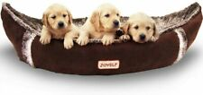 Joyelf Dog Bed with Washable Cover Pirate Ship Plush Soft Dog Bed