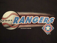 Vintage MLB Texas Rangers Major League Baseball Fan Classic Black T Shirt L