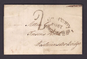 GB. Pre-stamp entire to Westminster Bridge. 1802.