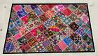 """62"""" x 38"""" Vintage Rabari Throw Embroidery Ethnic Tapestry Tribal Wall Hanging"""
