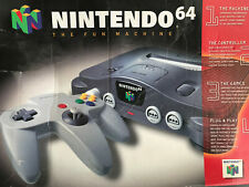 Original Nintendo 64 Console Box and Insert with Original Baggies and Ties Look!