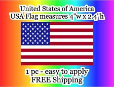 """US American Flag 1 pc USA VINYL Flag bumper sticker decal 4"""" military tactical"""