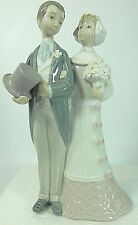 Lladro Wedding Couple Bride Groom Julio Fernandez Glazed Porcelain Figurine 4808