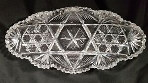 ABP Concord Pattern Cut Glass Bread Tray By Ideal Glass