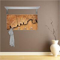 Weiß Holz Garderobe Hakenleiste Edelstahl Hutablage Motiv Flur Wand Holz Design