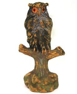 TIPPLE TOPPLE ELASTOLIN PRE-WAR COMPOSITION ZOO FIGURES - OWL