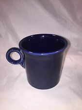Homer Laughlin Fiesta Ring Handle Tom & Jerry Mug Navy Cobalt Blue Fiestaware
