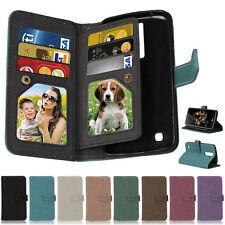 Matte Photo Frame 9 Slots Wallet Leather Flip Case Cover For LG K7 K10 LS775 G5