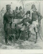 General Staff and Line Officers of Light Artillery Original Photo