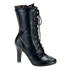 Normale-Weite-(E) Damenstiefel & -Stiefeletten ohne Muster und Reißverschluss für Sehr hoher Absatz (Größer als 8 cm)