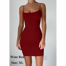 Cotton Sleeveless Spaghetti Package Hip Strap Mini Dresses Women Sexy Dress