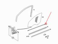 MERCEDES-BENZ C W203 Front Right Window Garnish Molding A2036901480 NEW GENUINE