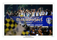 2020 CHAMPIONS LIMITED EDITION PRINT PHOTO LEEDS UNITED UTD TROPHY TEAM SQUAD 2