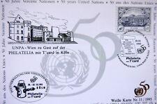 1 Ansichtskarte 50 Jahre Vereinte Nationen Wien mit eigener Sondermarke 1995   X