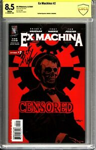 Ex Machina #02 - CBCS Verified Signature 8.5 Signed by Brian K Vaughan Wildstorm