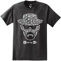 Breaking Bad Heisenberg Face Black Men's T-shirt New